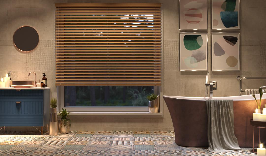 Stores vénitiens en alu dans une salle de bains