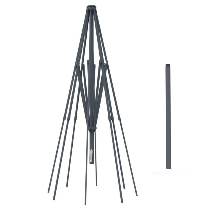 Mât en aluminium pour parasol droit rond Paragrandi 5 m