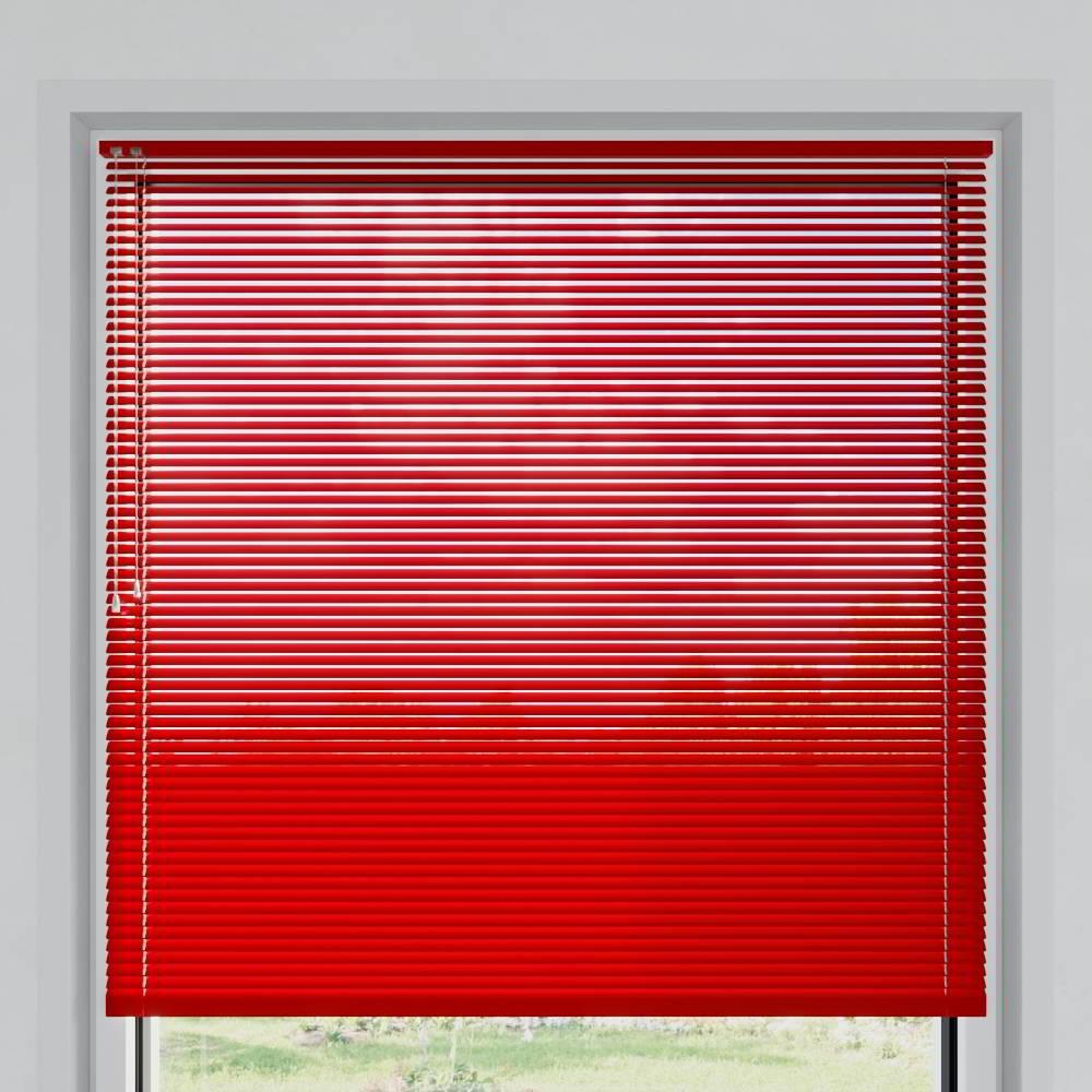 Store vénitien aluminium lames 25 mm, Rouge