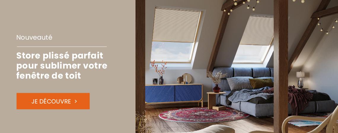 Store plissé parfait pour sublimer votre fenêtre de toit