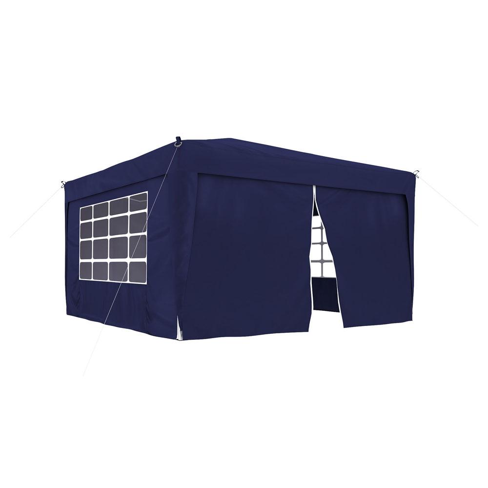 Rideau supplémentaire avec fermeture éclair pour tonnelle Basic et Premium, 295 x 195 cm, Bleu