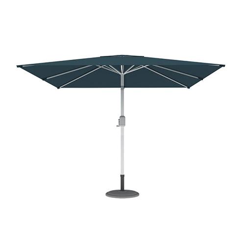 Parasol droit orientable carré, 3x3 m, Vert
