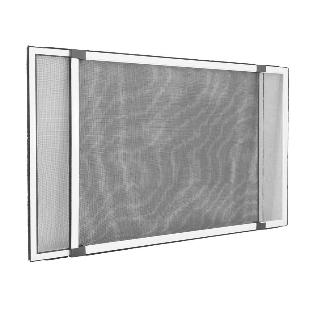 Moustiquaire pour fenêtre avec volet roulant, Prête-à-poser, Blanc