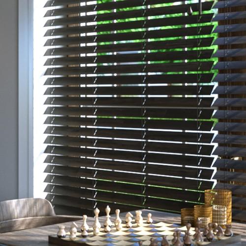 Store vénitien en bambou lames 50 mm