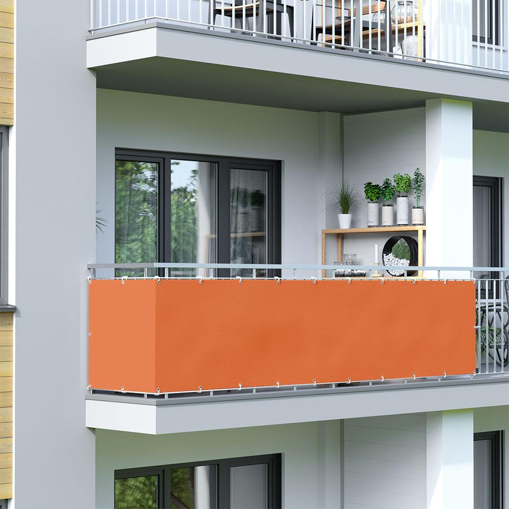 Brise-vue pour balcon Basic, tissu imperméable, Orange