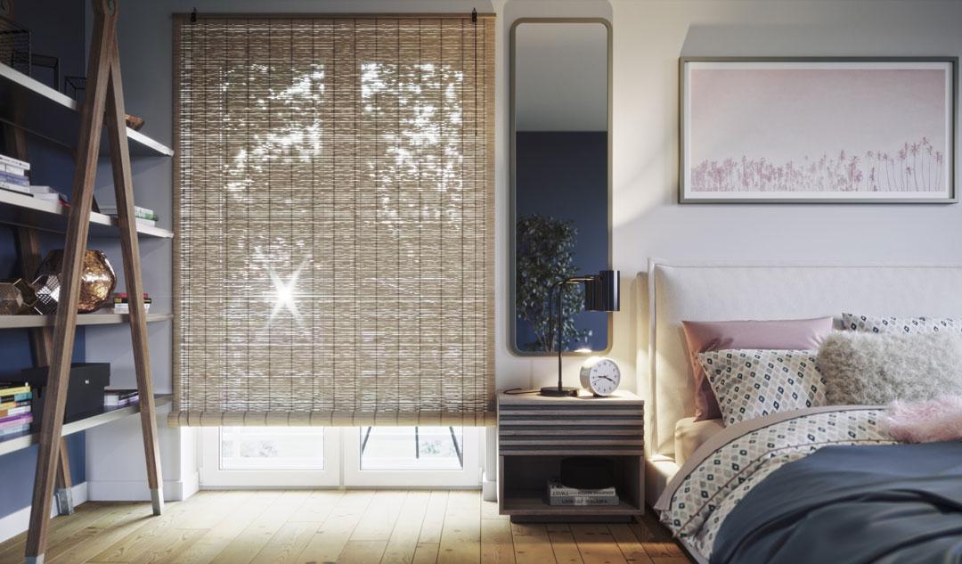 Store en bambou pour une chamre à coucher