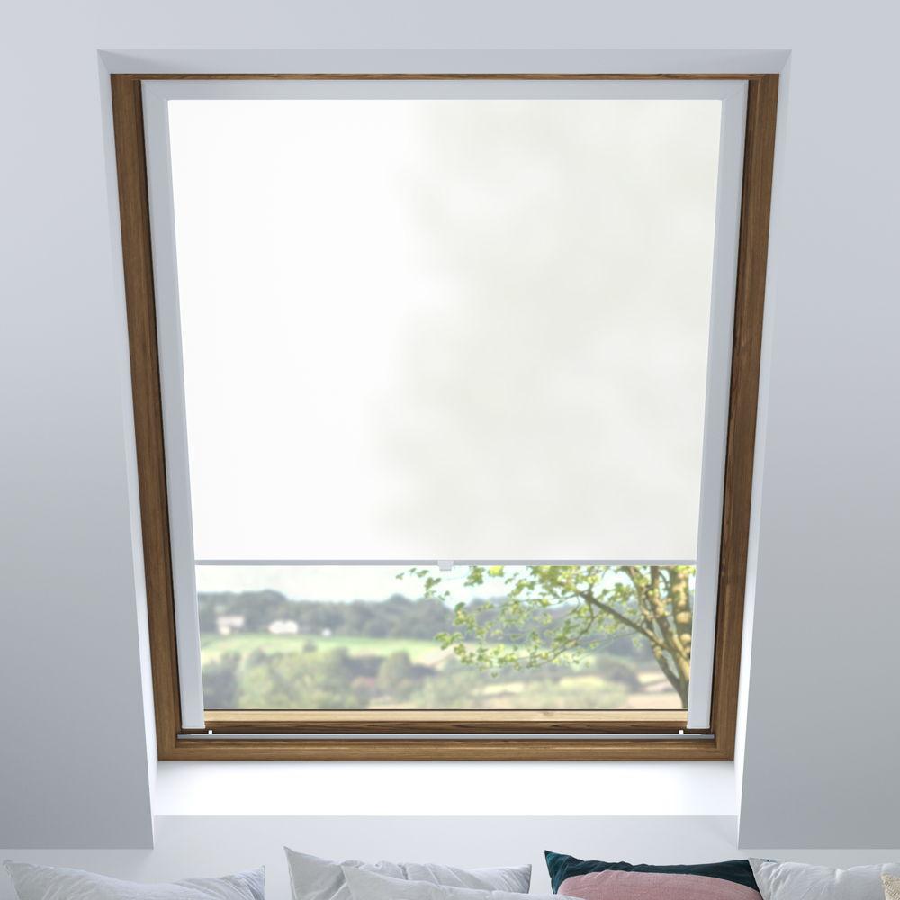 Store pour les fenêtres de toit, Sur mesure, Tamisant, Yaourt blanc