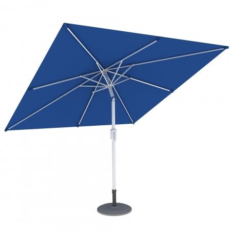 Parasol de terrasse droit orientable, forme carrée 3x3 m, Bleu