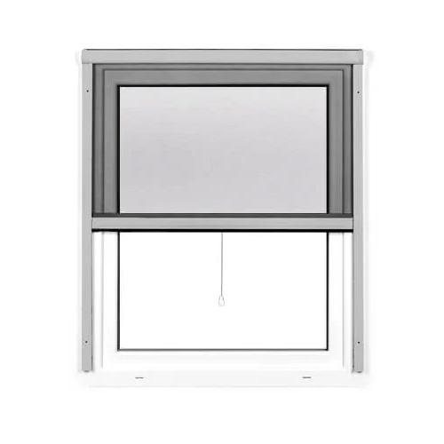 Moustiquaire enroulable pour fenêtre, Prête-à-poser, Argenté