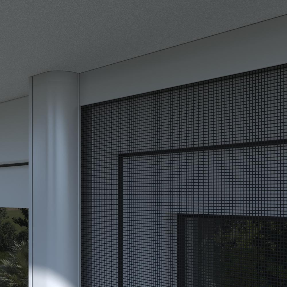 Moustiquaire enroulable pour porte deux vantaux