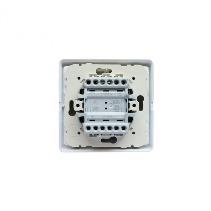 Double interrupteur poussoir pour montage encastré