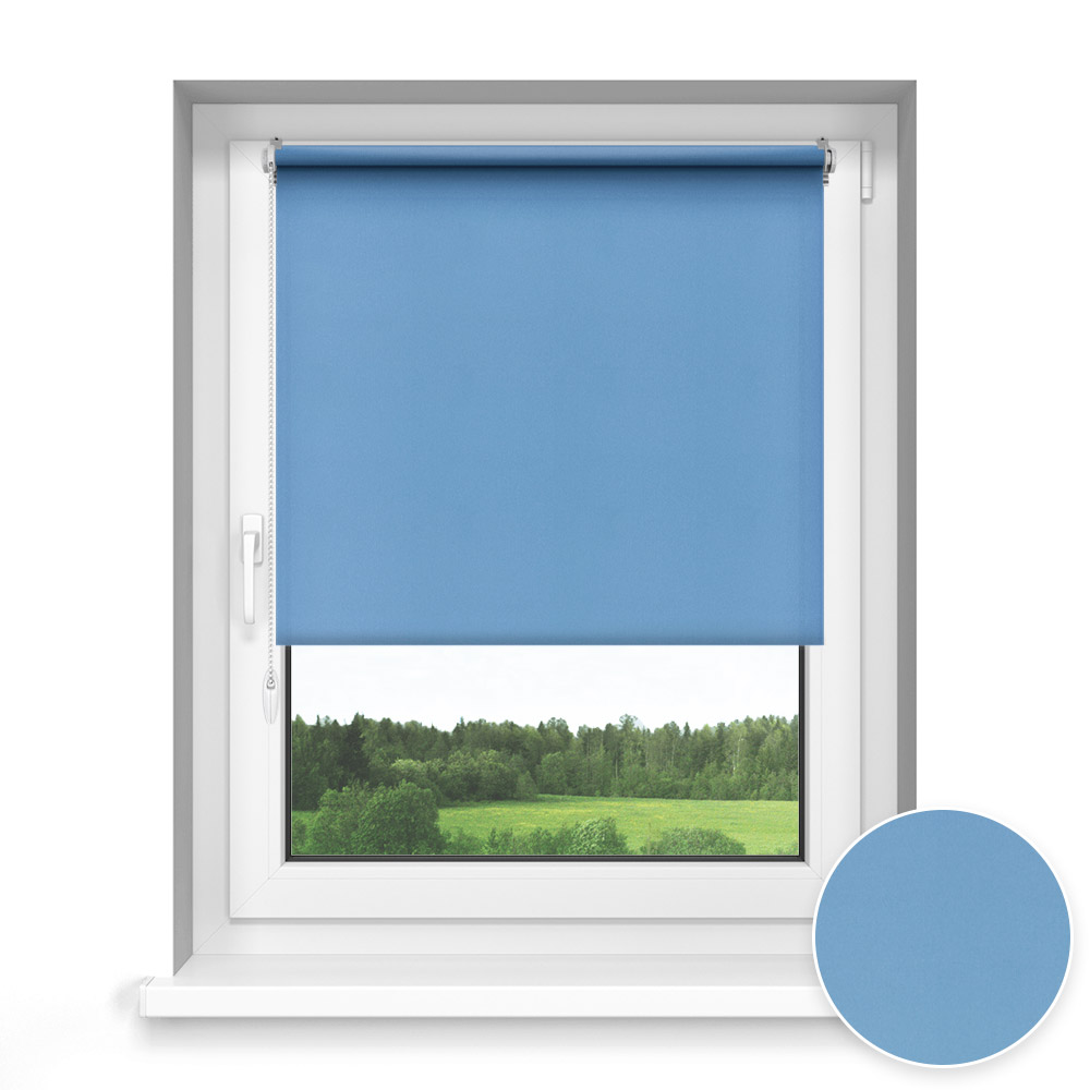 Store Enrouleur Sans Perçage Sur Mesure, Standard, Bleu