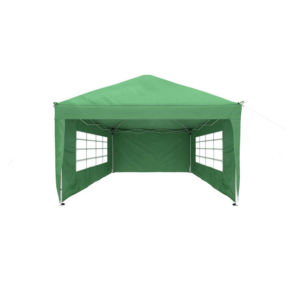 Rideau supplémentaire avec fenêtre pour tonnelle Basic et Premium, 295 x 195 cm, Vert