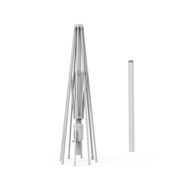 Mât en aluminium pour parasol droit Interpara, 3x3 m