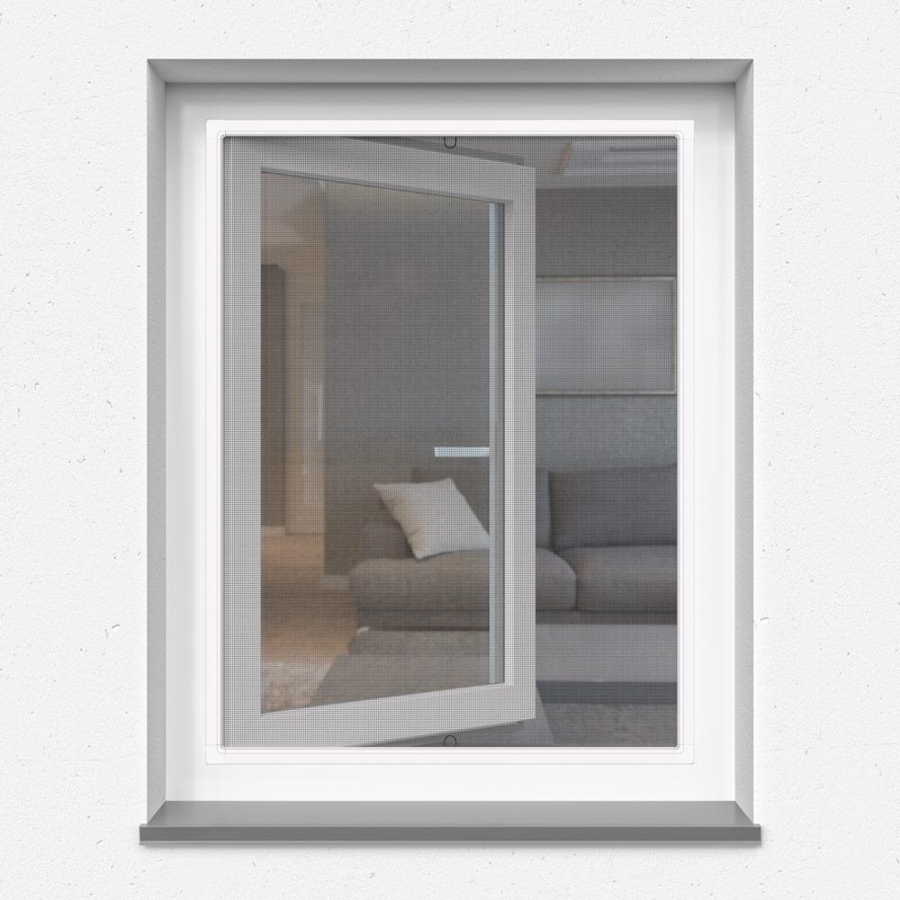 Moustiquaire cadre fixe pour fenêtre, prête-à-poser, Blanche, 60x150 cm