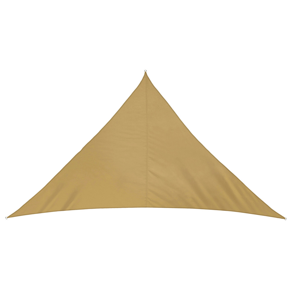 Voile d'ombrage triangulaire, imperméable, Sable
