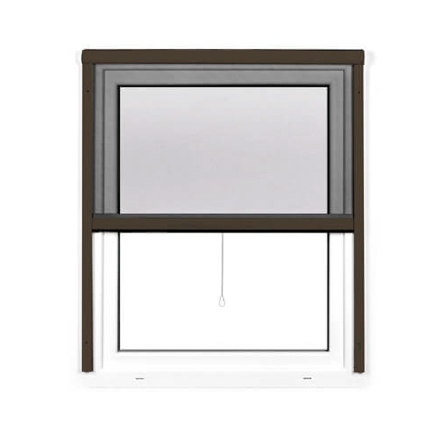 Moustiquaire enroulable pour fenêtre, Prête-à-poser, Brun