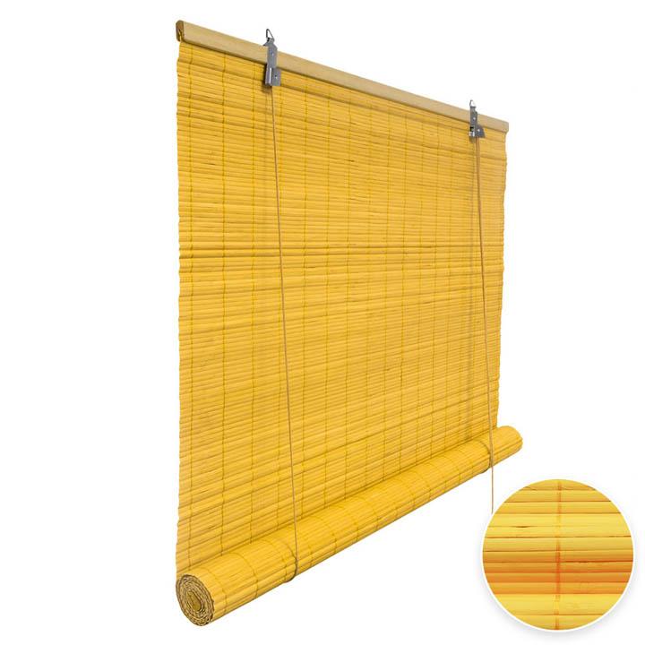 Store en bambou, Jaune