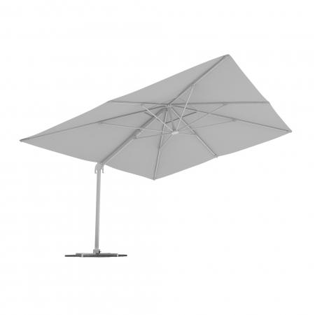 Parasol déporté rectangulaire, 4x3 m, Blanc