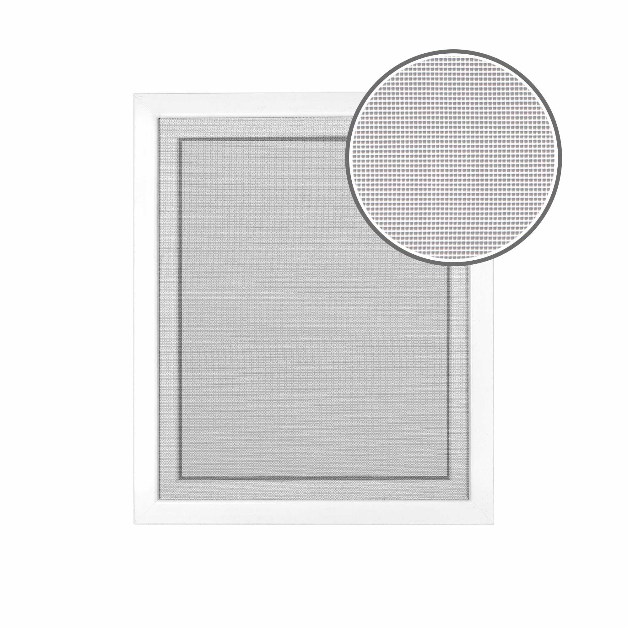 Toile de moustiquaire fixation auto-agrippante, Blanc