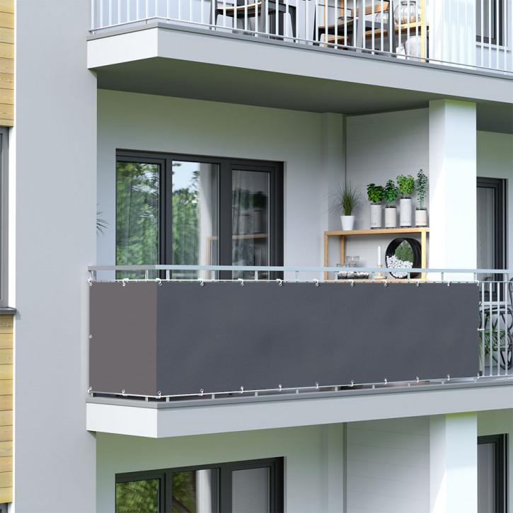 Brise-vue pour balcon, tissu imperméable