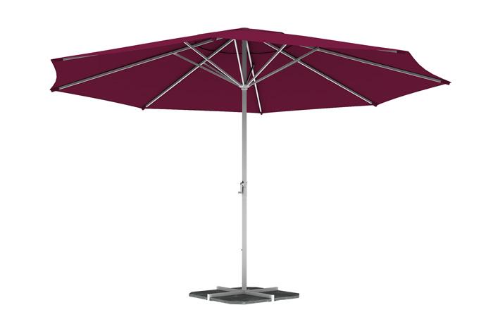 Parasol droit rond 5 m, Bordeaux