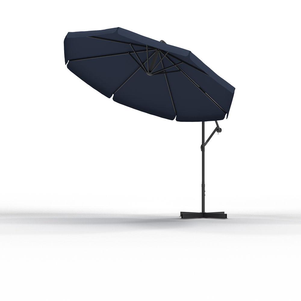 Parasol déporté rond 3 m, Bleu marine