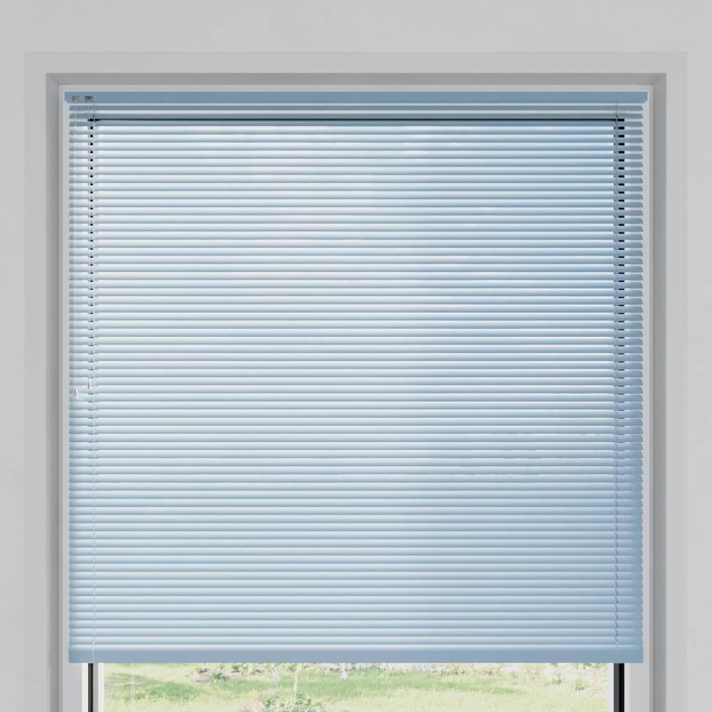 Store vénitien aluminium lames 25 mm, Azurin mat