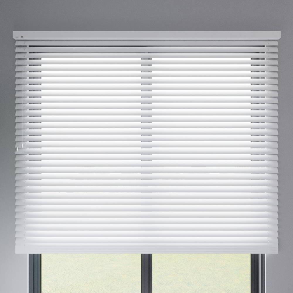 Store vénitien aluminium lames 50 mm, Blanc mat