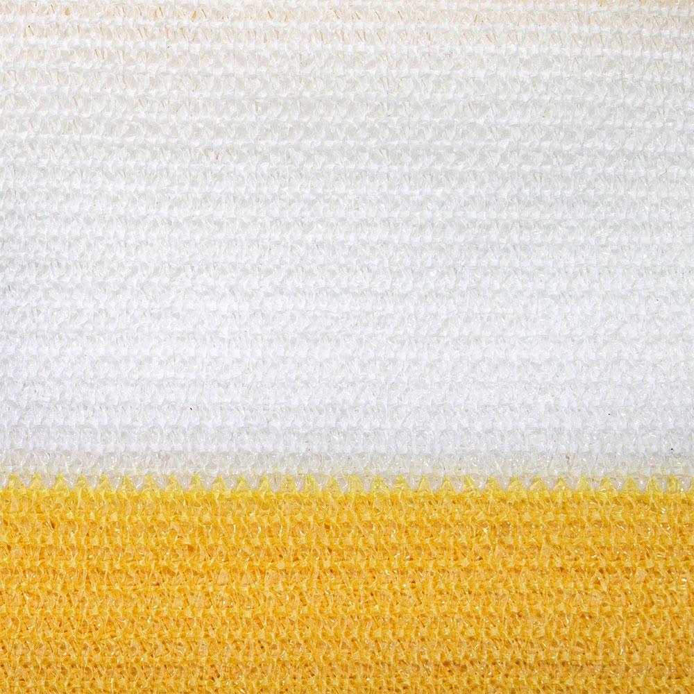 Brise-vue pour balcon Basic, tissu respirant, Jaune-blanc