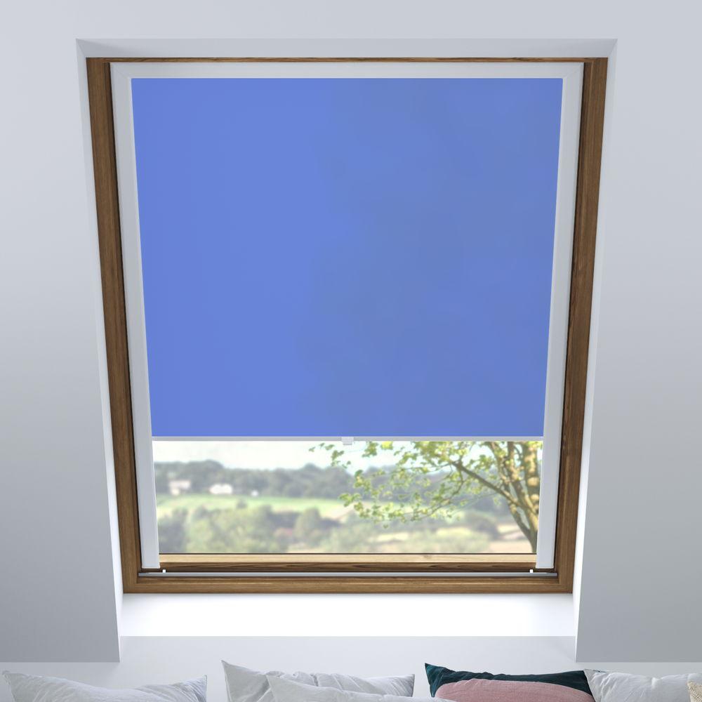 Store pour les fenêtres de toit, Sur mesure, Tamisant, Bleu cobalt