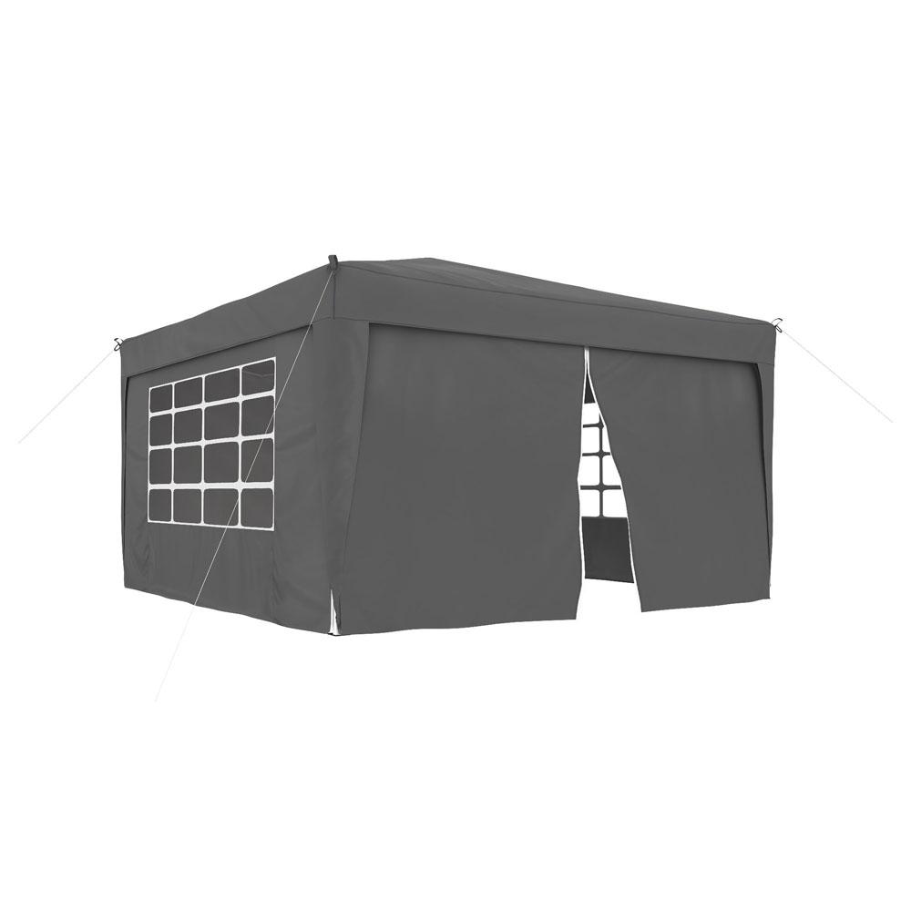 Rideau supplémentaire avec fermeture éclair pour tonnelle Basic et Premium, 295 x 195 cm, Anthracite