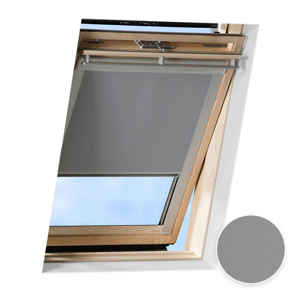 Store occultant pour fenêtre de toit compatible FAKRO ®, Gris