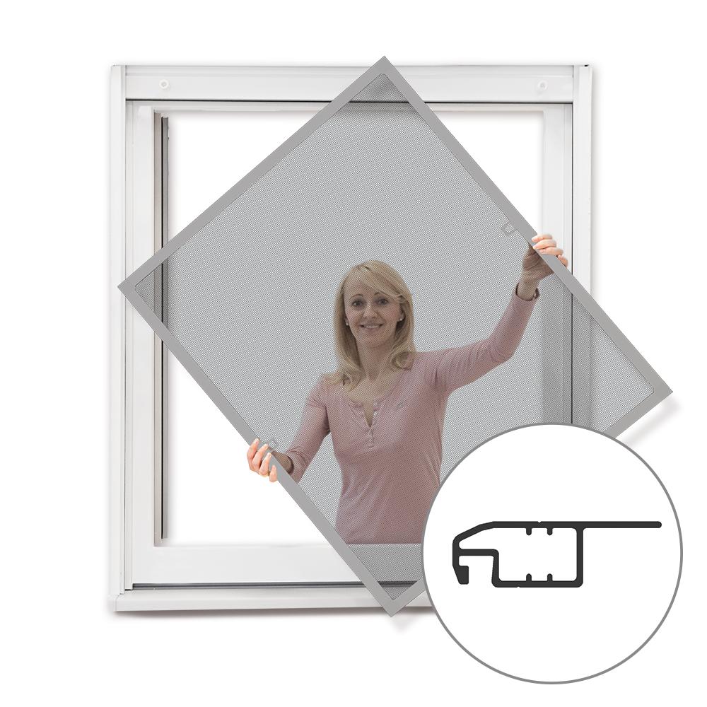 Moustiquaire cadre fixe pour fenêtre, prête-à-poser, Argenté