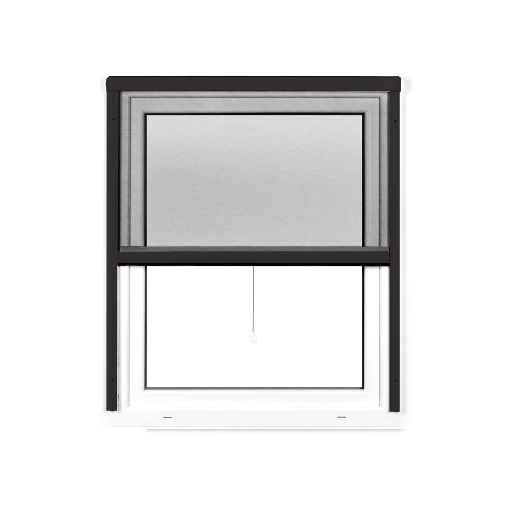 Moustiquaire enroulable pour fenêtre, Prête-à-poser, Anthracite