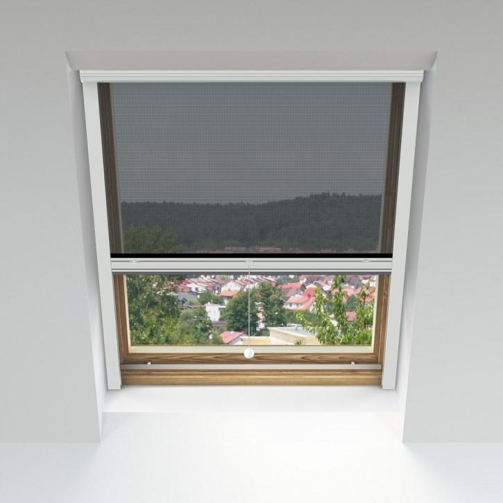 Moustiquaire enroulable pour fenêtres de toit