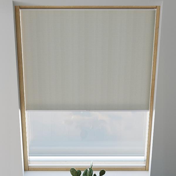 Store plissé pour fenêtre de toit, nid d'abeille, sur mesure, Piano Gris clair