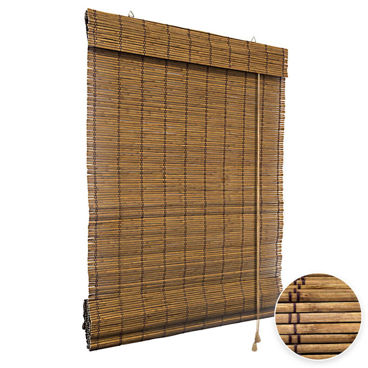 Store en Bambou type bateau, Brun
