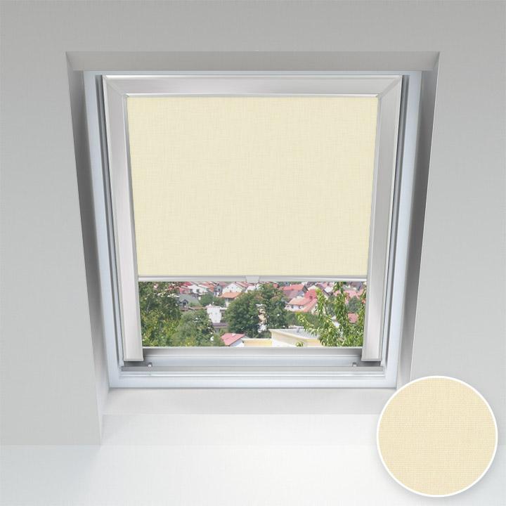 Store pour les fenêtres de toit, Sur mesure, Vanille