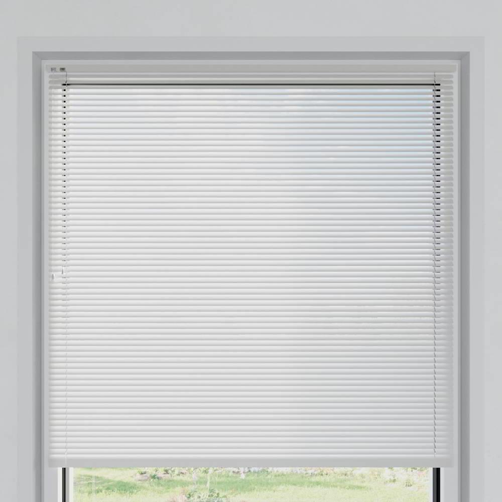 Store vénitien aluminium lames 25 mm, Blanc mat