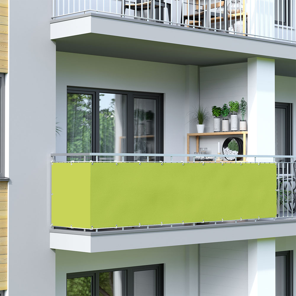 Brise-vue pour balcon Basic, tissu imperméable, Vert clair