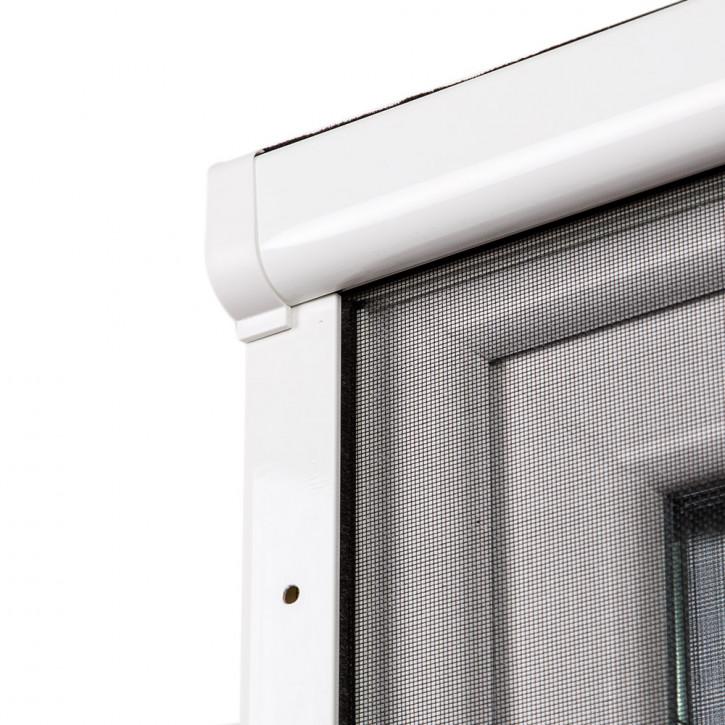 Moustiquaire enroulable pour fenêtre 2 en 1, prête-à-poser