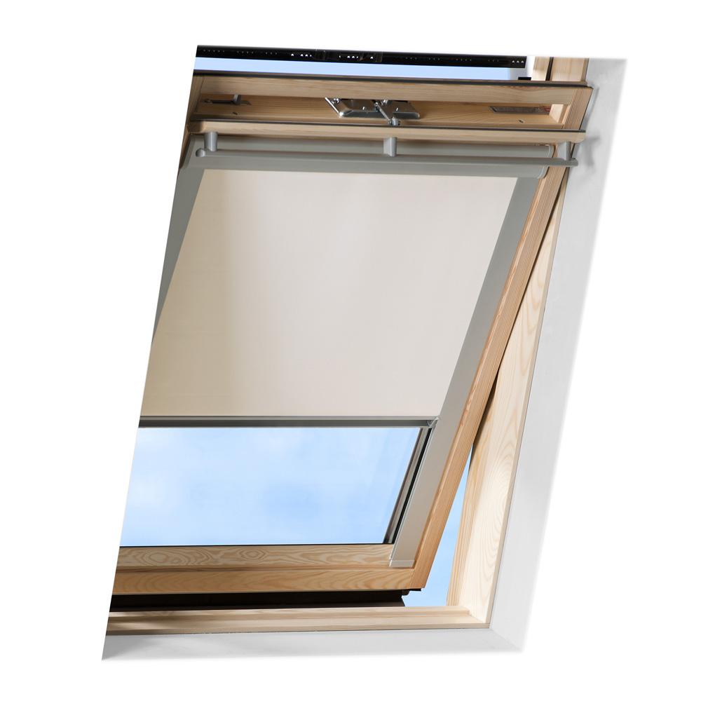 Store pour les fenêtres de toit Velux, Occultant, Crème