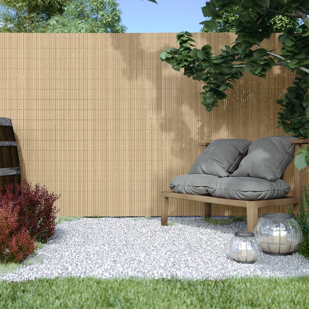 Canisse en PVC Premium, largeur des lamelles 17 mm, Bambou