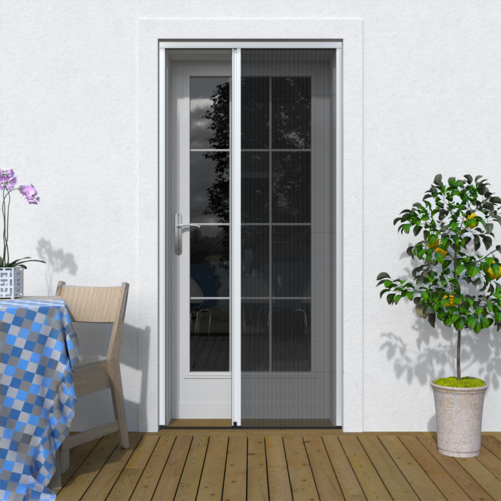 Moustiquaire plissée pour porte
