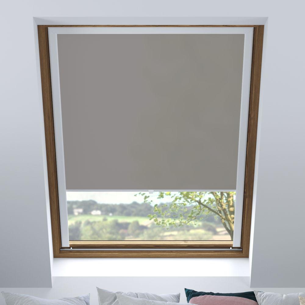Store pour les fenêtres de toit, Sur mesure, Tamisant, Nickel
