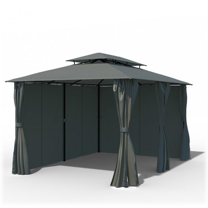 Structure de tonnelle avec toit et rideaux Comfort, 3x4 m