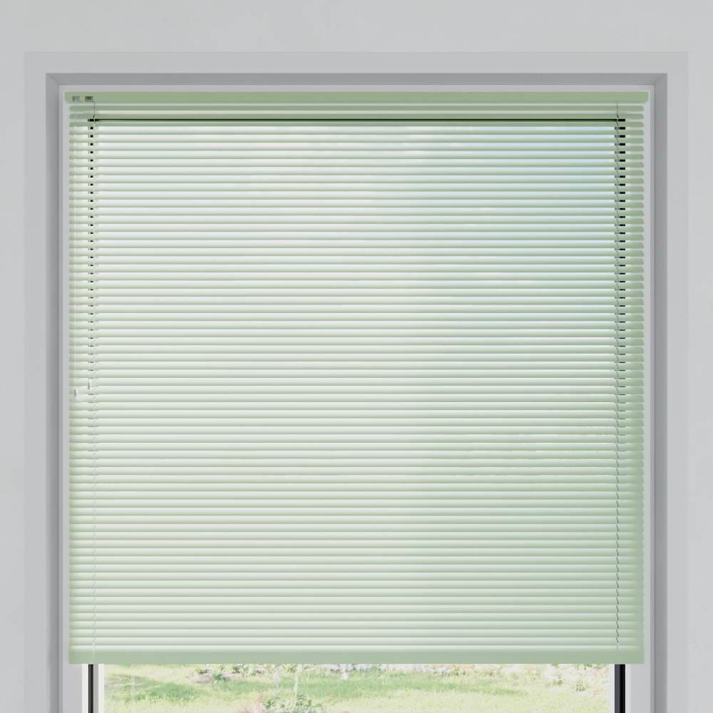 Store vénitien aluminium lames 25 mm, Vert pastel mat