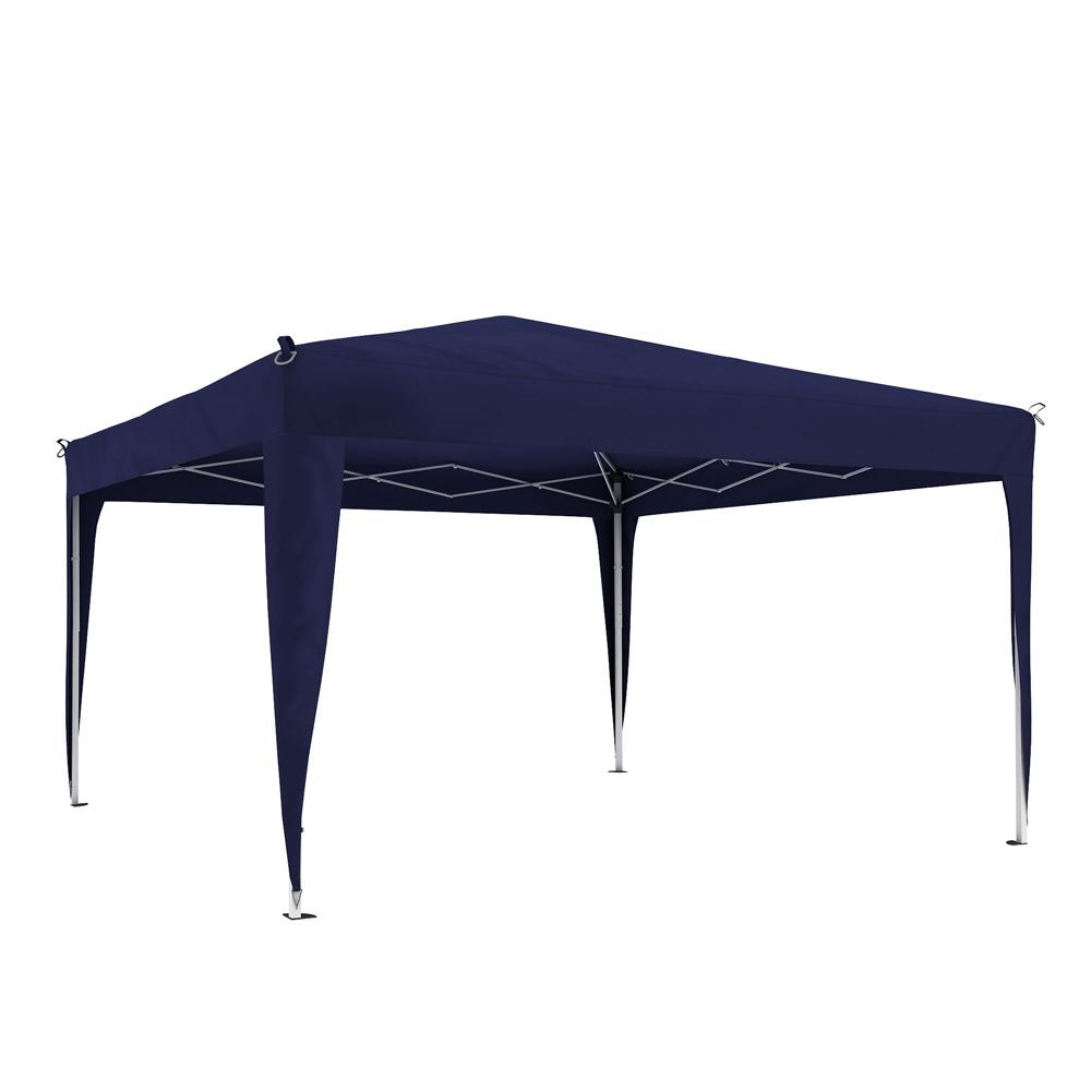 Structure de tonnelle avec toit Premium, 3x3 m, Bleu