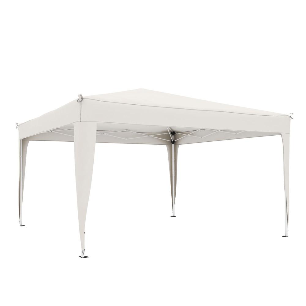 Structure de tonnelle avec toit Premium, 3x3 m, Blanc